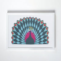 peacock offset print