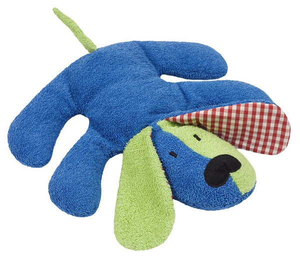 organic cotton & wool plush blue dog