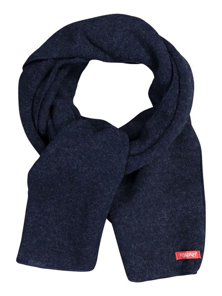 Ruskovilla wool fleece scarf, navy blue