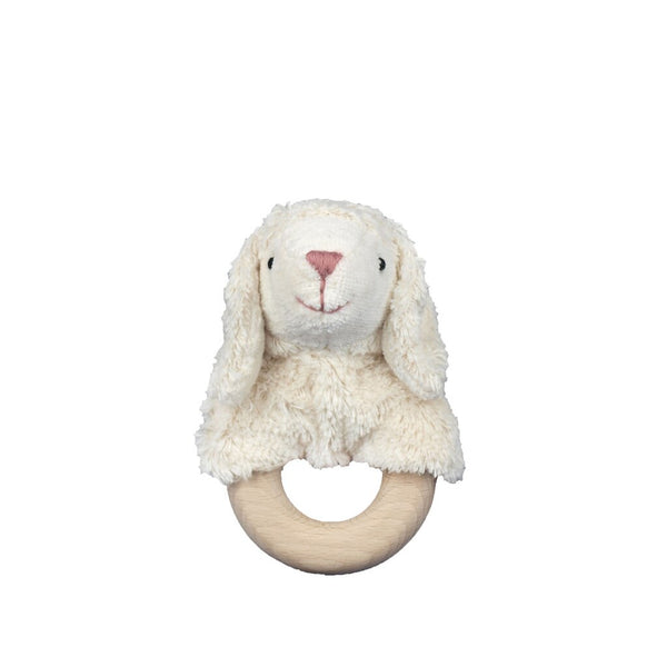 lamb with wooden ring