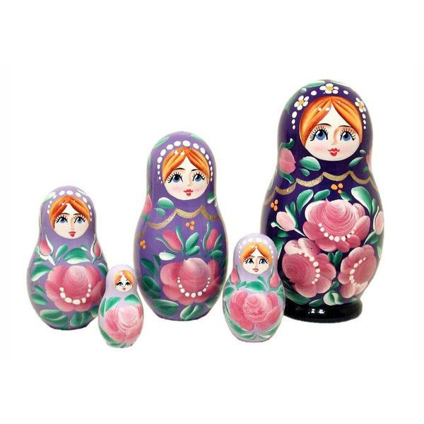 Blue Gradient Matryoshka dolls set