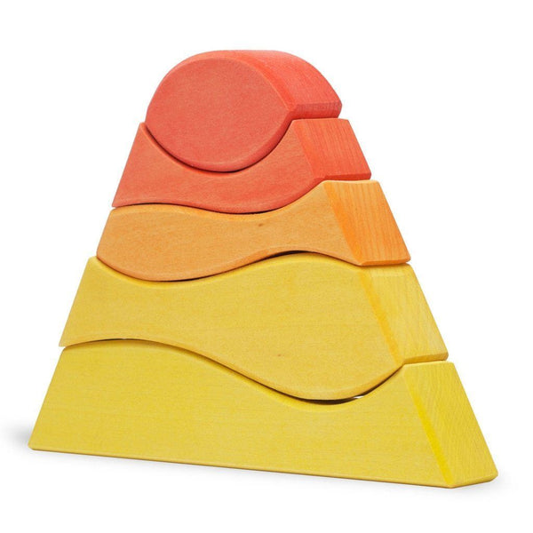 Ocamora Mountain, red-orange-yellow