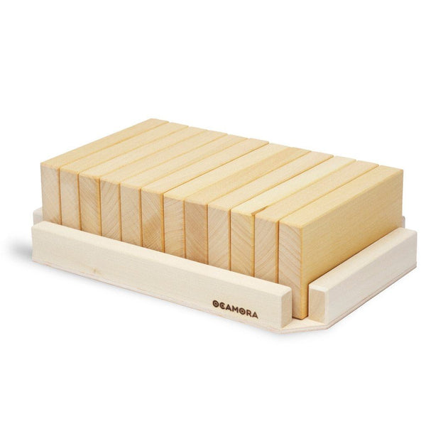 Ocamora 12 large wooden tablets, natural