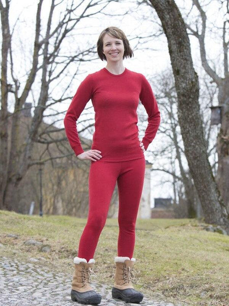 women's organic wool long underpants