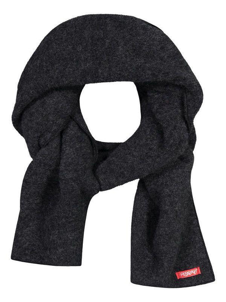 Ruskovilla wool fleece scarf, anthracite