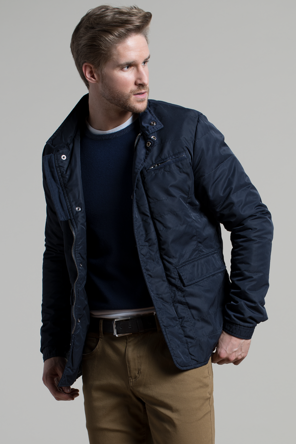 Water Resistant Field Coat in Navy