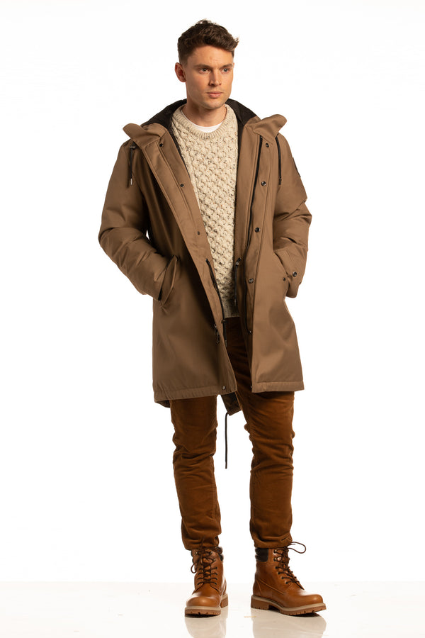 "Sustainable ""Sub Zero"" Winter Parka in Tobacco"
