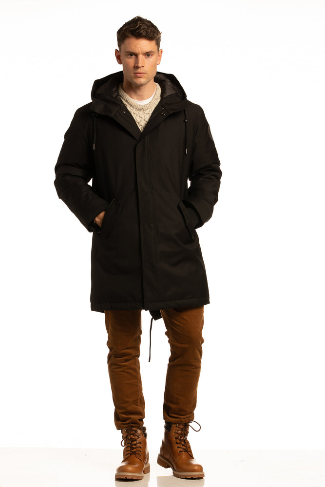 "Sustainable ""Sub Zero"" Winter Parka in Black"
