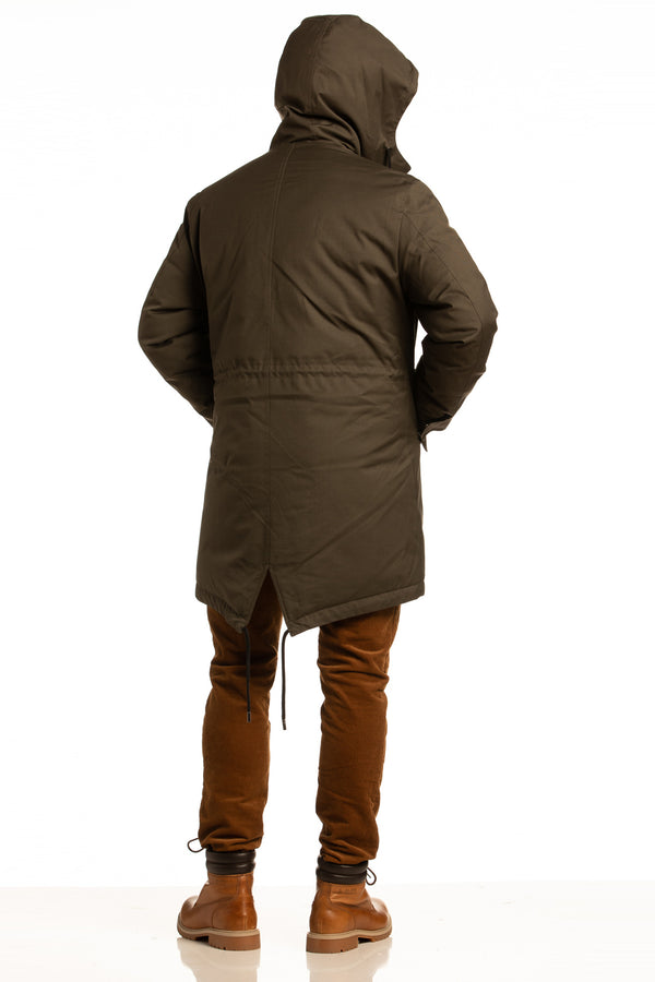 "Sustainable ""Sub Zero"" Winter Parka in Ivy Green"