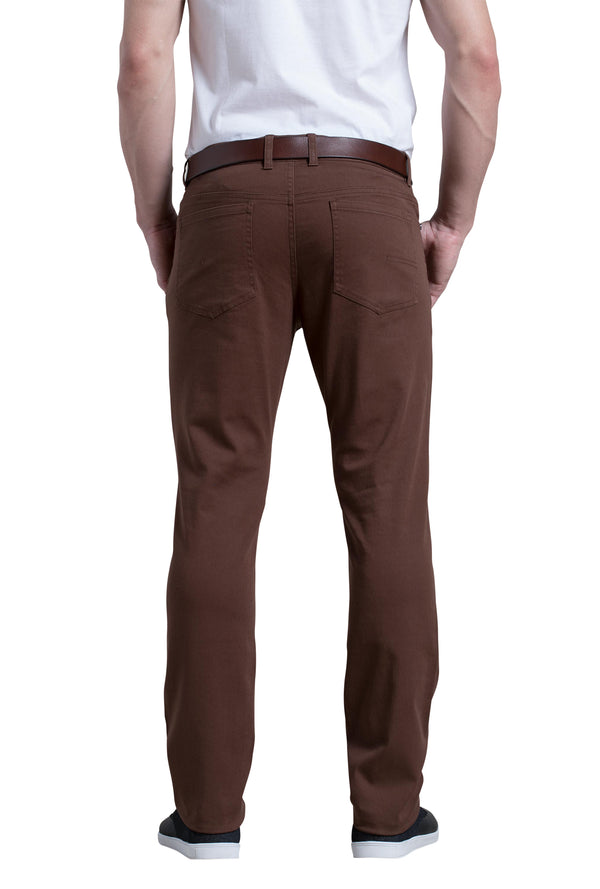 Dylan 5 Pocket Pant in Dark Mole