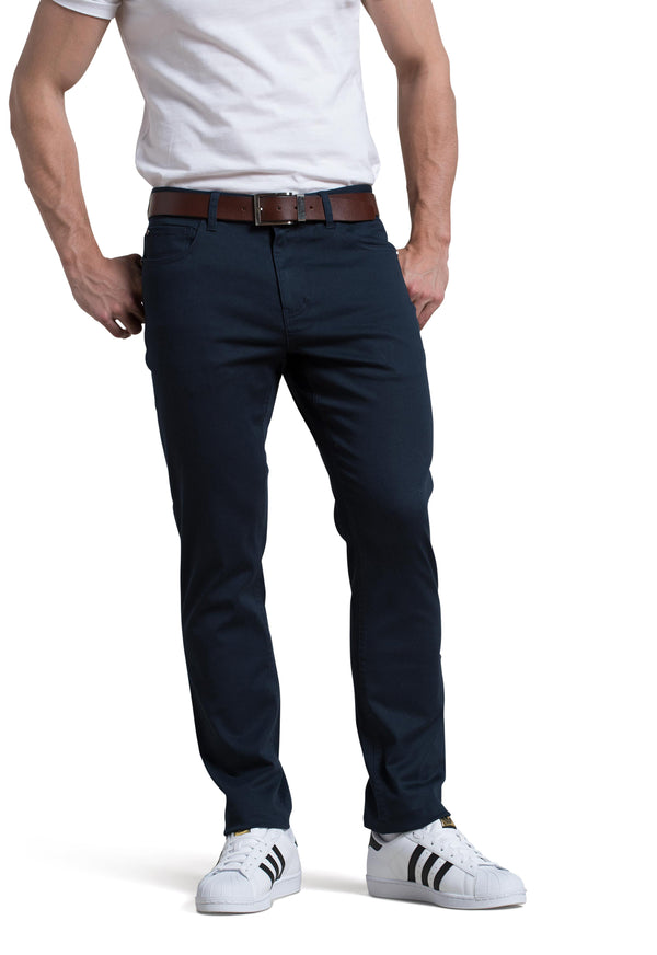 Dylan 5 Pocket Pant in Midnight Blue