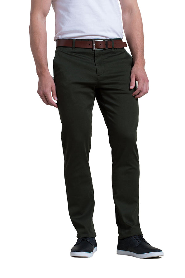 Michael Stretch Pant in Dark Olive