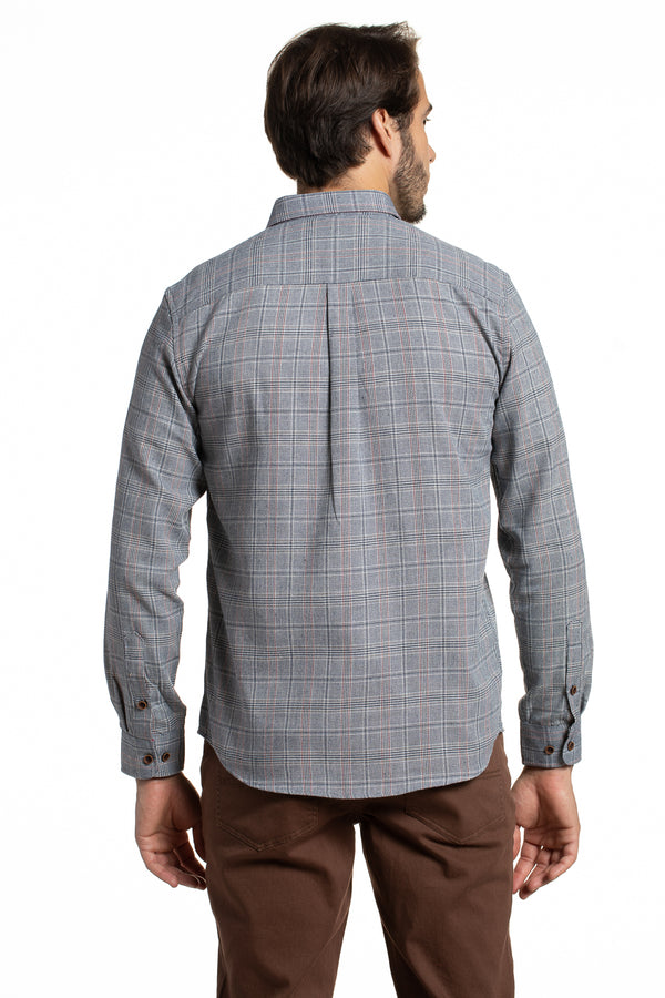Cullen Heritage Checked Shirt in Navy Plaid