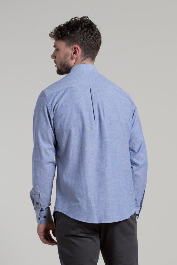 Antrim Stretch Oxford Shirt in Blue