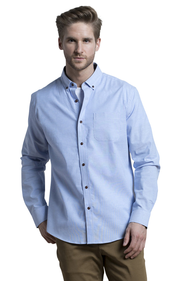 Antrim Stretch Oxford Shirt in Sky Blue