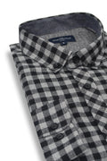 Clonmel Gingham Check Shirt in Black and Grey