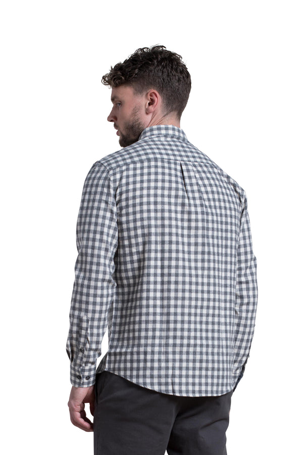 Clonmel Gingham Check Shirt in Grey