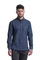 Clonmel Flannel Shirt in Grey / Blue