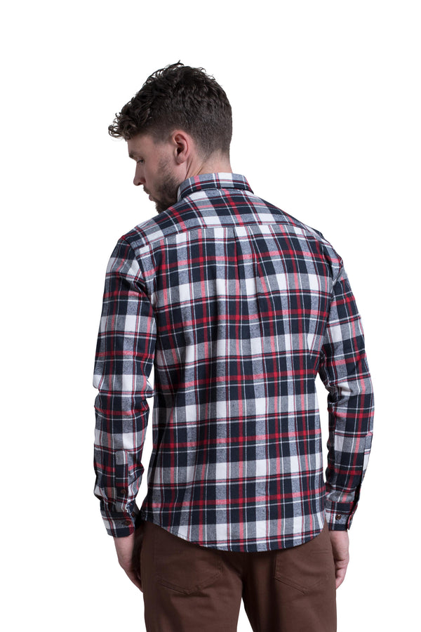Clonmel Tartan Check Shirt in Navy/Red