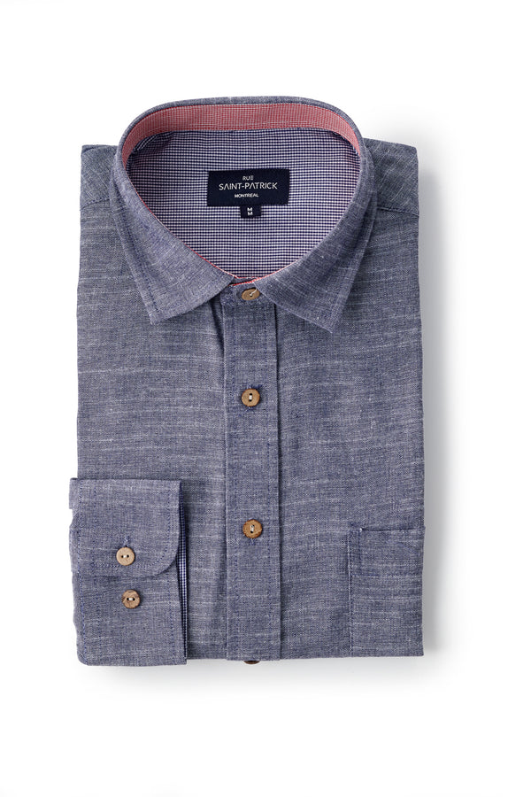 Slub Yarn Sligo Shirt in Denim Blue