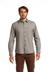 Coleraine Diagonal Twill Shirt in Granite Grey