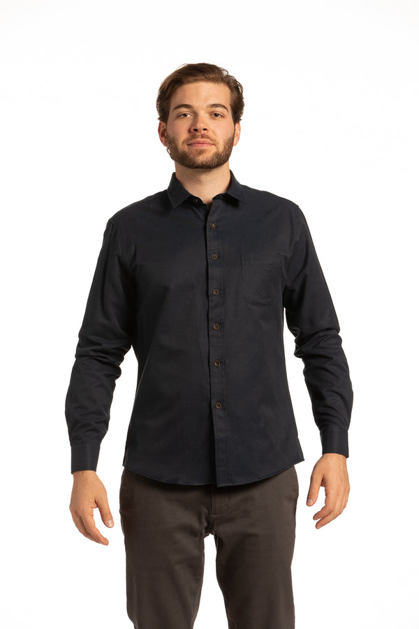 Coleraine Diagonal Twill Shirt in Navy Blue