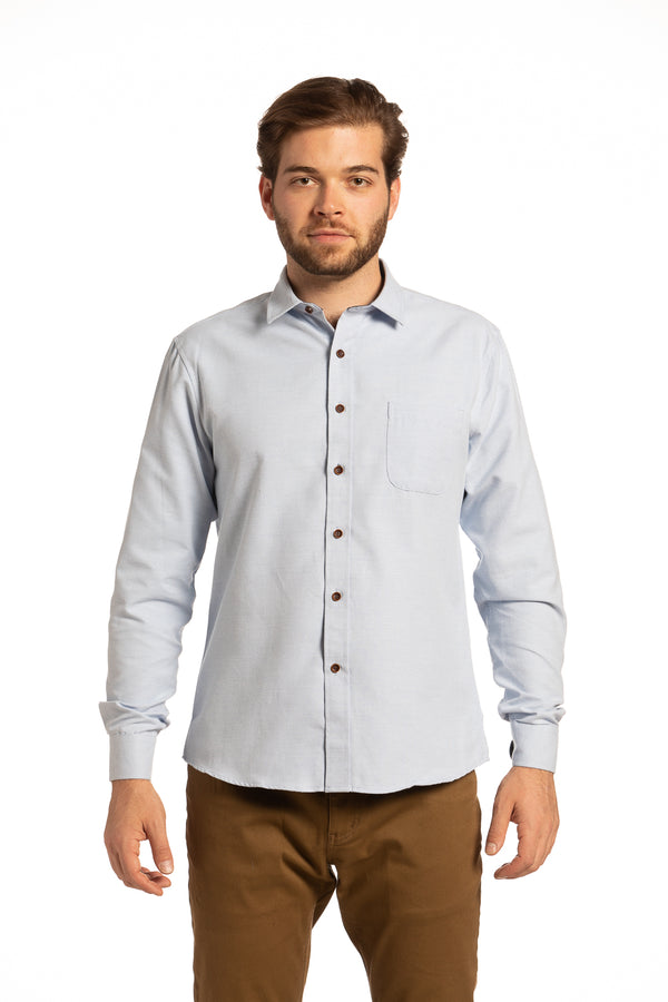 Coleraine Diagonal Twill Shirt in Sky Blue