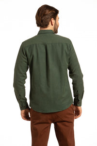 Coleraine Diagonal Twill Shirt in Loden Green
