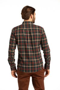 Castlebar Flannel Shirt in Green & Red