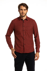 Killyleagh Flannel Shirt in Red