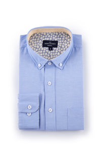 Kells Easy Care Oxford Shirt in Sky Blue