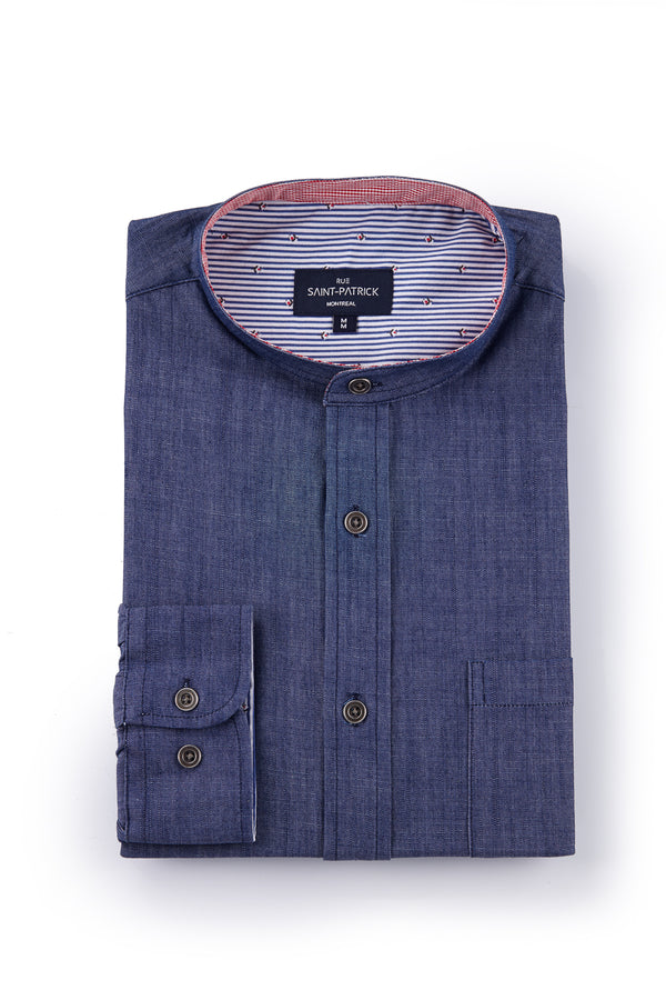 Denim Ripstock Shirt in Indigo