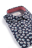 London Prodigy Floral Shirt in Navy
