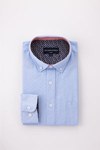 Dotted Dress Shirt in Light Blue
