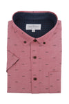 Ardglass Short Sleeve Shirt in Blush Red