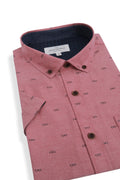 Ardglass Short Sleeve Shirt in Cherry Red