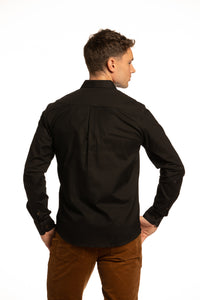 Antrim Stretch Oxford Shirt in Black