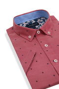 Portavogie Short Sleeve Shirt in Cherry Red
