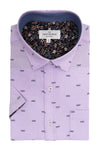 Ardglass Short Sleeve Shirt in Purple