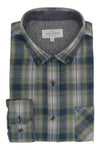 Carrickroe Flannel Shirt in Green and Navy