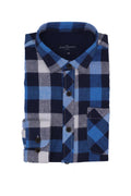 Atticus Boy's Flannel Shirt in Blue