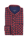 Liam Boy's Flannel Shirt in Red