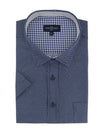 Airdrie Short Sleeve Shirt in Navy