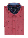 Aberdeen Short Sleeve Shirt in Cherry Red