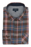 Castlewellen Flannel Shirt in Navy and Red