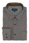 Banbridge Flannel Shirt in Grey and Orange