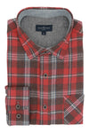 Rathlin Flannel Shirt in Red and Brown