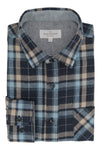 DerryBoye Flannel Shirt in Navy