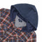 Castlewellen Hooded Flannel Shirt in Navy and Red