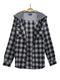 Ballyconnell Hooded Flannel Shirt in Black and Grey